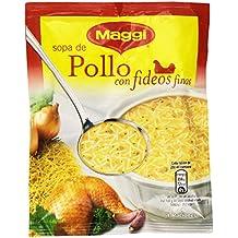MAGGI Sopa de Pollo con Fideos Finos - Sopa Deshidratada - Sobre 82g (4 raciones)