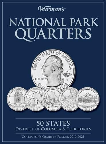 National Parks Quarters: 50 States + District of Columbia & Territories: Collector's Quarters Folder 2010-2021 por Warman's