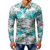 YunYoud Fashion Männer Printed Bluse Casual Langarm Slim Shirts Tops schwarzes herrenhemd langarm weiße hemden günstig kaufen hemd ohne ärmel männer kurzarmhemden für