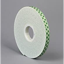 "TapeCase 3M 4008 0.75"" X 36YD 4008 0.75in X 36yd White Foam Tape (1 Roll)"
