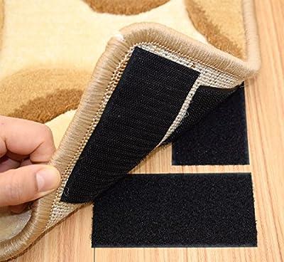 Rug Anchors Carpet Hook and Loop Non-slip Mat Anti-skid Stickers Rectangle - inexpensive UK light shop.