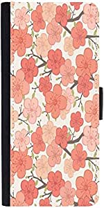 Snoogg Pink Flower Pattern Graphic Snap On Hard Back Leather + Pc Flip Cover ...