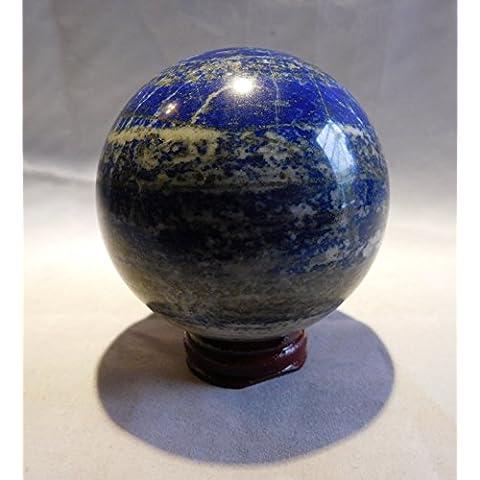 britain-e-spheres Crystal–Una Bella 73mm circa (600g) suolo e lapislazzuli lucido