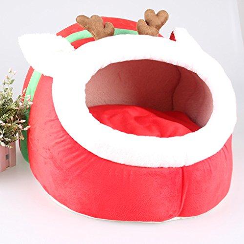 Vollter Pet Dog della base della stuoia del cucciolo Cuscino Renna Cat House Pet morbida coperta calda Kennel - Bed Kennel