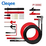 HITSAN Cleqee P1300B 12-in-1 Super Multimeter Probe Replaceable Probe Clamp Multi Meter Test Lead Kits + Alligator Clips Color P1300C
