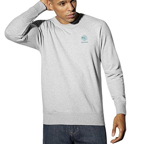 Reebok -  Felpa  - Uomo Grey Medium