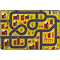 Ducan Lincoln Area Rug Carpet Crossroads Maze Kids Play Mat Baby Crawling Carpet Non Slip Soft Area Rug For Living Room Bedroom Dining Room Floor Mat Lightweight,36 x 24 In/60X91 CM