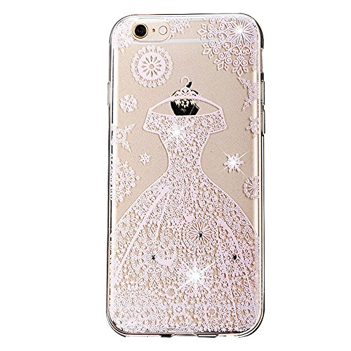 iPhone 6S Hülle Silikon,iPhone 6S Hülle Glitzer,iPhone 6S Hülle Clear,Transparent Crystal Clear TPU Case Hülle Klare Ultradünne Silikon Gel Schutzhülle Durchsichtig Rückschale Etui für iPhone 6S / 6 4 S TPU 14