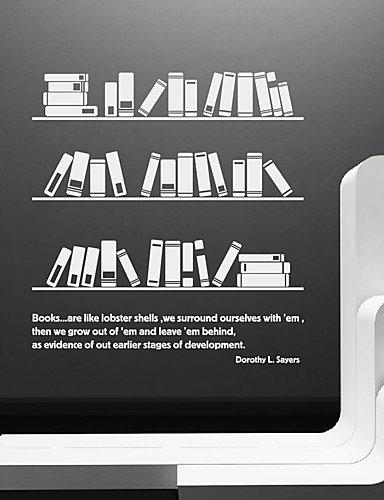 Wand Sticker Wand Aufkleber, modernes Bücherregal PVC Wandtattoo Aufkleber khaki