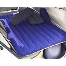 KDGWD Cama hinchableAuto colchón de aire Flocked Bed Car en el Coach Car Travel inflable cama colchón , deep blue , 143*87*45cm