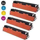 Cool Toner kompatibel toner für CB540A CB541A CB542A CB543A kompatibel für HP Color LaserJet CP1215 CP1515N CP1518NI, CM1312 CM1312NFI, K-2200 Seiten, C/M/Y-1400 seiten