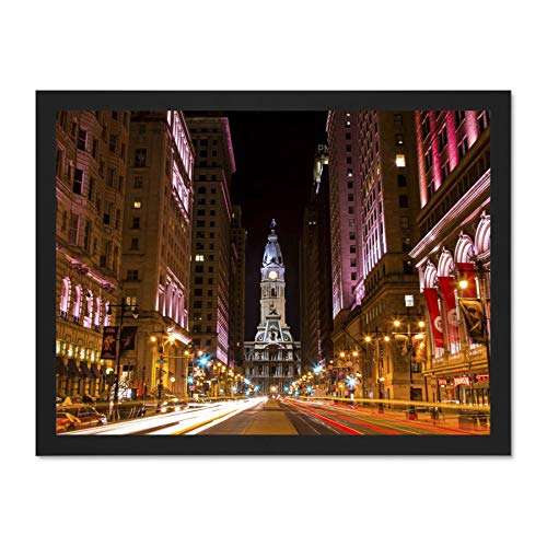 Doppelganger33 LTD Photo Cityscape City Hall Philadelphia Pa Large Framed Art Print Poster Wall Decor 18x24 inch Supplied Ready to Hang -