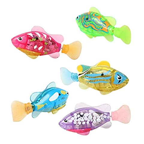 Lalang Baby Bathtime Ducks Toys Bath Tub Toys Set Flashing Light Bath Toys Waterproof Night Light Ducks (1pcs swiming