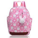 Vox Niedlich Tier Hase Babyrucksack Kinderrucksack Kleinkind Mädchen Kindergarten Rucksack Backpack mit Brustgurt Junge (Pink)