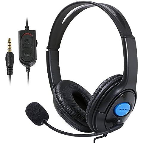 TRIXES Cuffia con microfono nero, plug and