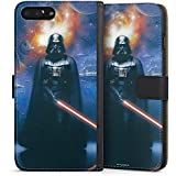 Apple iPhone 8 Plus Tasche Hülle Flip Case Star Wars Merchandise Fanartikel The Dark Side