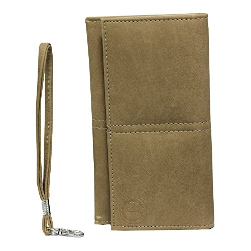 J Cover A5 Nillofer Leather Wallet Universal Pouch Cover Case For Moto G Plus, 4th Gen (, 32 GB) Beige