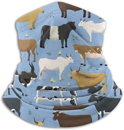 IMERIOi Nackenwärmer - Winddichter Winter-Nackenschutz Gesichtsmaske für Bullen und Kühe Nutztiere Rinder Säugetiere Männer Frauen