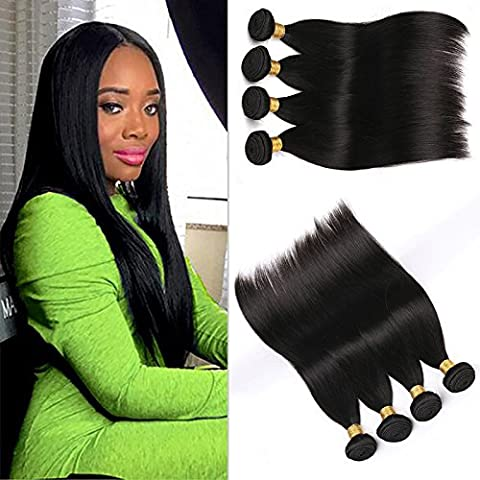 Silkylong 8A Peruvian Hair Weave 4 Bundles Straight Hair 8