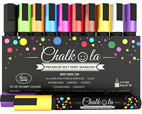 chalk-pens-pack-of-10-neon-colour-markers-used-on-whiteboard-chalkboard-window-blackboard-6-mm-bulle