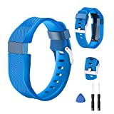 Tosenpo - Correa de repuesto para pulsera inteligente Fitbit Charge HR, color Sky Blue-S
