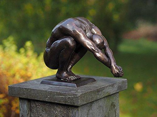 H. Packmor GmbH Sehr schöne Bronzefigur eines Schwimmer aus Bronze gefertigt