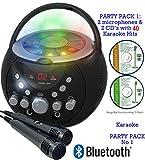 BLUETOOTH Portable Karaoke Machine & CD Player 36 Karaoke SONGS CDG+