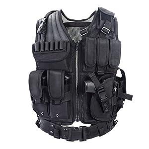 Veste tactique militaire- VT-1063 - Gilet de police, militaire ou de l'armée -Yakeda®
