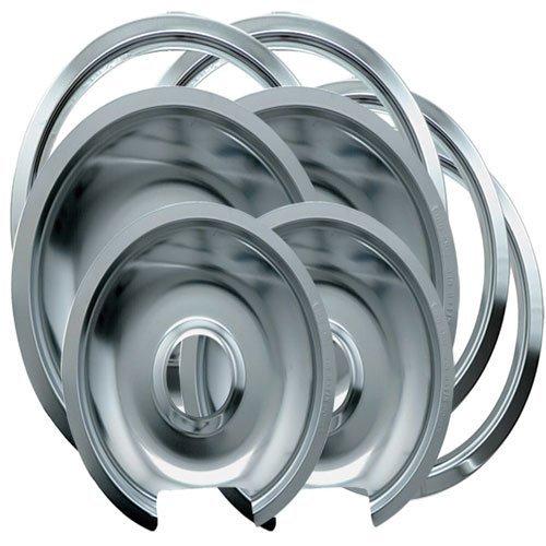Drip Pan Ring (Range Kleen 1056RGE8 GE Hinged Drip Pans and Trim Rings Containing 2 Units 105A,106A, R6U, R8U, Chrome by Range Kleen)