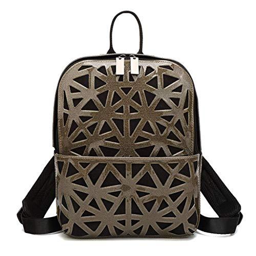 Yuany Mode Dame Rucksack geometrische rhombische umhängetasche Stern Rucksack pu Leder College Wind weiblichen Tasche
