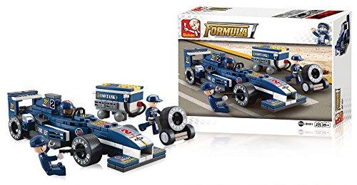 italy sluban Formula 1 automobile macchina da corsa F1 gioco di costruzioni creative 196 blocchi gioco didattico per bambini B0351 E51