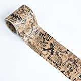 WRITIME Washi Tape Klebeband 5CM X 5M/Kraftpapier Series und Papierband Retro Old Objects Englisch Love Letters Deko Tape, Poststempel Impressum