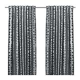 IKEA GUNNI 2 Gardinenschals in grau; blickdicht; (145x300cm)