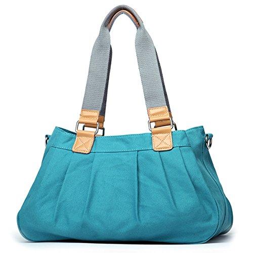 Eshow Borse Multifunzione a tracolla donne tela tessuto casual viaggio borse a tracolla molto portabile al Confronto verde