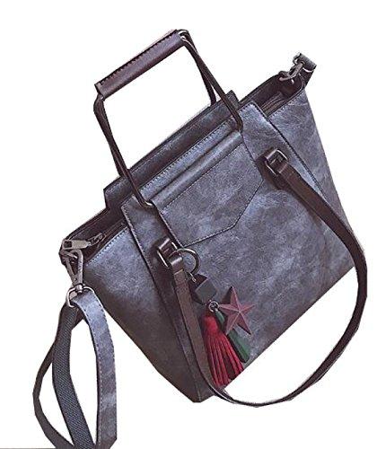 Fabelhaft Koreanische Version Der Einfachen Großen Kapazitäts-Kurier-Tasche Grey