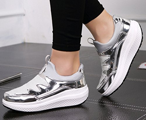 Solshine , chaussures compensées femme Silber