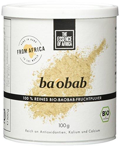 The Essence of Africa Baobab-Fruchtpulver, 1er Pack (1 x 100 g) -