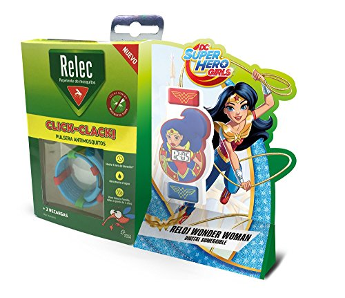 Relec Armband gegen Antimoskitos Superhelden Wonder Woman, 1 Stück (Armbänder Wonder Woman)