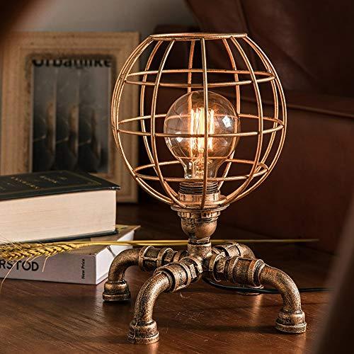 Tischlampe Rustikales Wohnzimmer Schlafzimmer Nacht Kreative Retro Messing Kupferrohr Bronze Nachtlicht Antike Kleine Vintage Schreibtischlampe Schreibtisch Lanps -