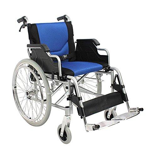 ANLEI Rollstuhl manuellen Rollstuhl Falt Rollstuhl Aluminiumlegierung Material Ultra Leicht für ältere Menschen/Patienten/Menschen mit Behinderungen (Falt-rollstuhl)