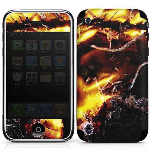 Preisvergleich Produktbild Apple iPhone 3Gs Case Skin Sticker aus Vinyl-Folie Aufkleber Feuer Dämon Armageddon