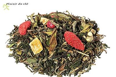Thé, le Plaisir des 8 immortels, thé blanc parfumé litchi pêche, 100g