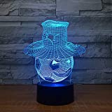 Calcio che indossa una forma a cappello Lampada a LED 3D LED Atmosfera visiva Decor Night Light Touch Switch Light Fixture