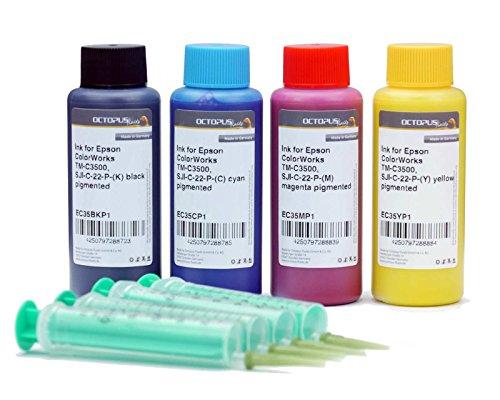 Inchiostro per Stampante Epson colorworks TM di C3500 multicolore 4 x 100ml CMYK