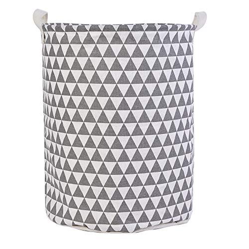 Urase Wäschekorb mit Kordelzug Kleidung Spielzeug Aufbewahrungskorb Baumwollleinen Wasserdicht Faltbar Wäschebox Wäschesammler