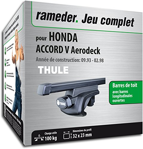 Rameder Pack Barres de Toit SquareBar pour Honda Accord V Aerodeck (115966-01272-65-FR)