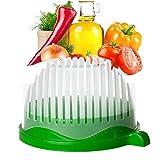 Faneli Salat Cutter Schüssel, Cutter Schüssel Gemüseschneider Schüssel, Küche 3 in 1...