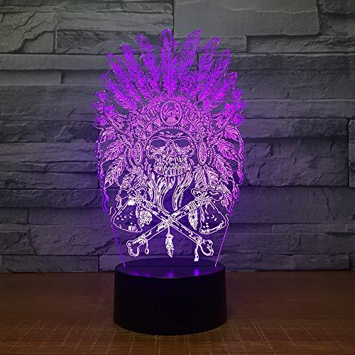 Indian chef 3d lampe 7 farbe led nacht lampen für kinder touch led usb tisch lampara lampe baby schlafen nachtlicht dekor licht