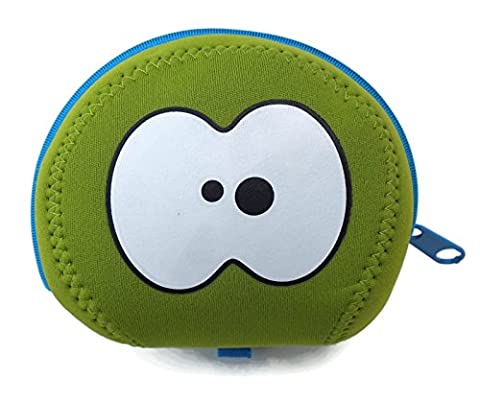 Lime Green & Blue Apple Bag by Fruitfriends. Made From Colourful Neoprene To Protect Your Favourite Fruit. Includes FREE Fruitfriends 'EYES' Ice Pack (blue or green). A Fun Way To Your 5 A