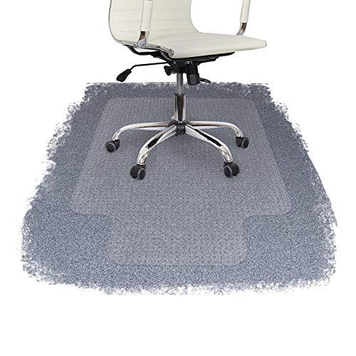 FloordirektPRO Bodenschutzmatte für Bürostuhl, Teppichschutz, 100% Polykarbonat mit Umrandung, plastik, durchsichtig, 75 x 120 cm (with Lip) (Rubbermaid Protector)